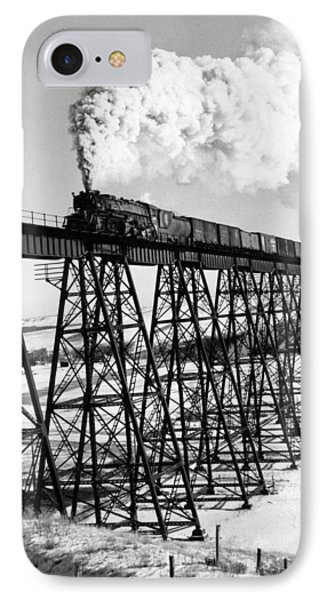 A Steam Engine On Trestle IPhone Case