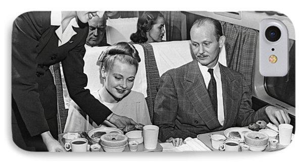 A Stewardess Serving Breakfast IPhone Case by Underwood Archives