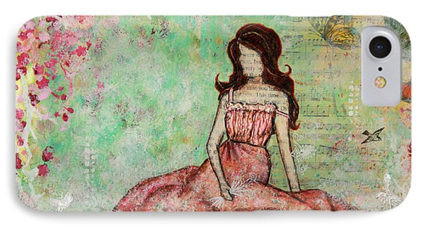 A Still Morning Folk Art Mixed Media Painting Phone Case by Janelle Nichol