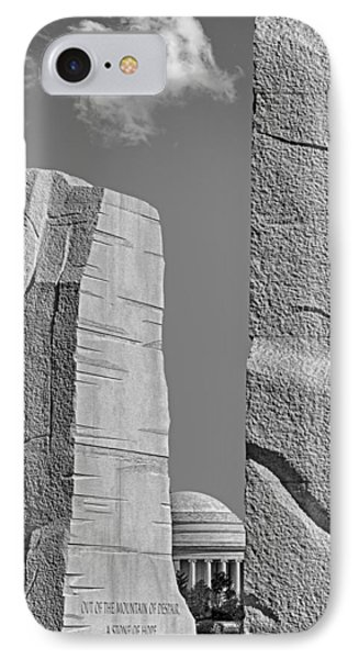 A Stone Of Hope Bw Phone Case by Susan Candelario