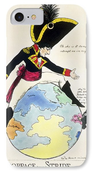 A Stoppage To A Stride Over The Globe, 1803 Litho IPhone Case