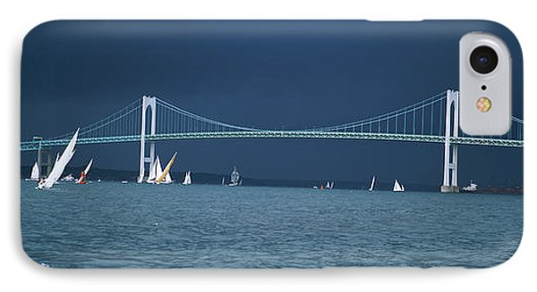 A Storm Approaches Sailboats Racing IPhone Case