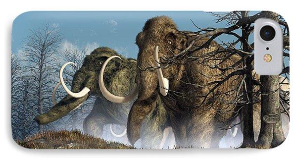 A Storm Of Mammoths  Phone Case by Daniel Eskridge