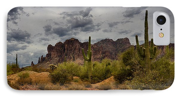 A Stormy Day At The Superstitions IPhone Case by Saija  Lehtonen