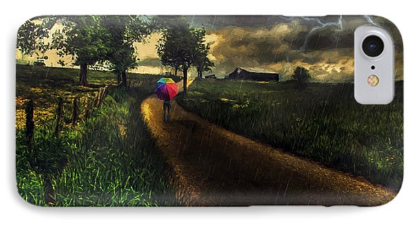 A Stormy Night IPhone Case by Darren Fisher