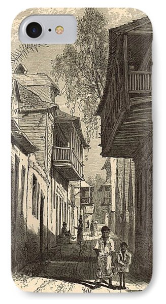 A Street In St. Augustine 1872 Engraving IPhone Case by Antique Engravings