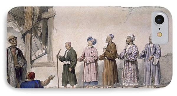 A String Of Blind Beggars, Cabul, 1843 IPhone Case by James Atkinson