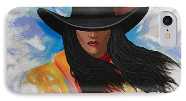 A Stroke Of Cowgirl IPhone Case by Lance Headlee