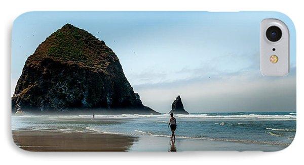 A Stroll At Cannon Beach Oregon IPhone Case