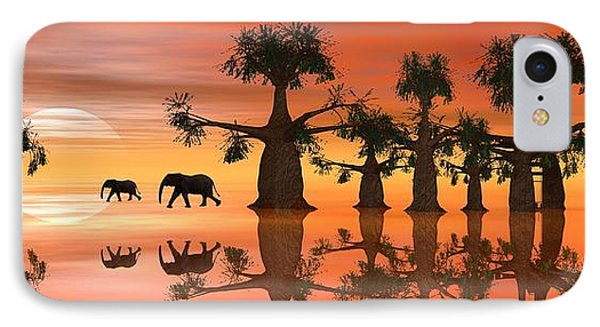 IPhone Case featuring the digital art A Stroll By Moonlight II by Jacqueline Lloyd