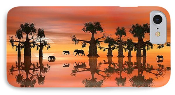 IPhone Case featuring the digital art A Stroll By Moonlight IIi by Jacqueline Lloyd