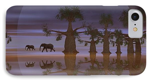 IPhone Case featuring the digital art A Stroll By Moonlight by Jacqueline Lloyd