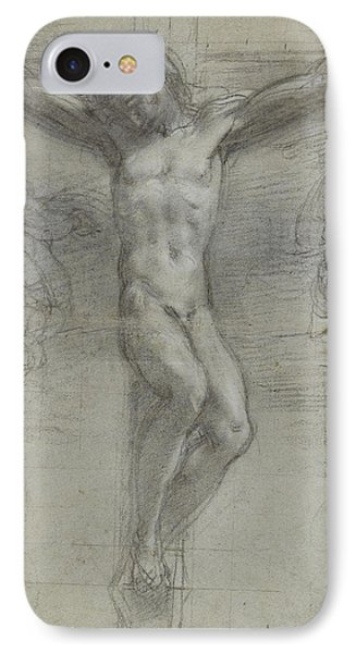 A Study Of Christ On The Cross With Two Phone Case by Federico Fiori Barocci or Baroccio