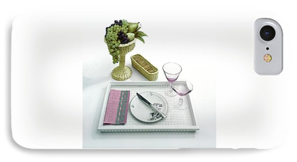 A Summer Table Setting On A Tray IPhone Case by Haanel Cassidy