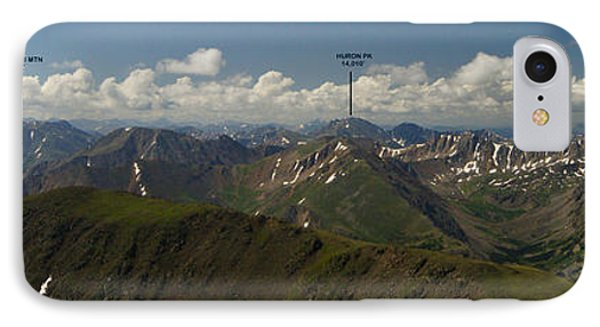 A Summit View Panorama Text IPhone Case