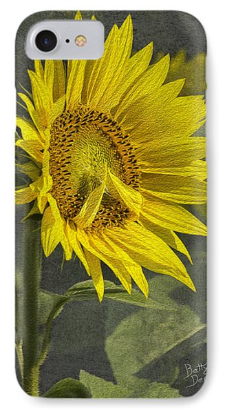 IPhone Case featuring the photograph A Sunflower's Prayer by Betty Denise