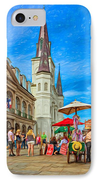 A Sunny Afternoon In Jackson Square 2 IPhone Case