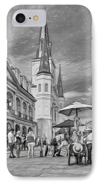 A Sunny Afternoon In Jackson Square 3 IPhone Case