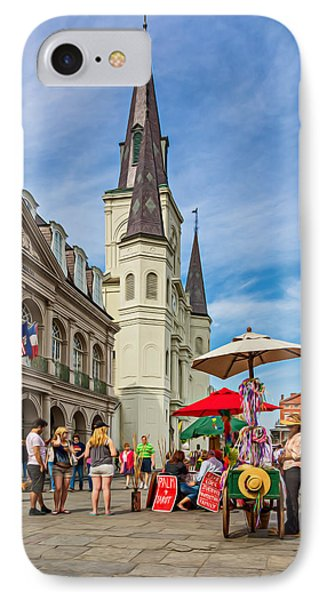 A Sunny Afternoon In Jackson Square Oil IPhone Case