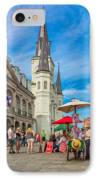 A Sunny Afternoon In Jackson Square Phone Case by Steve Harrington