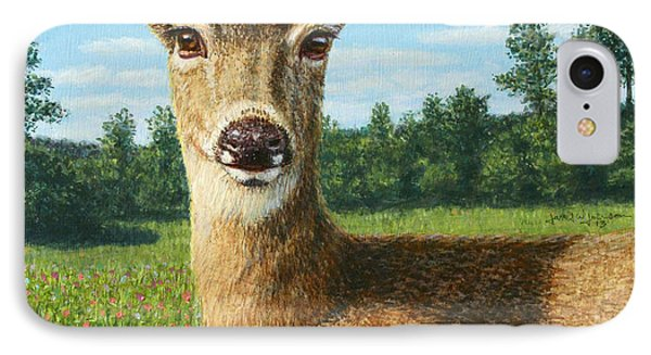 A Sunny Doe Phone Case by James W Johnson