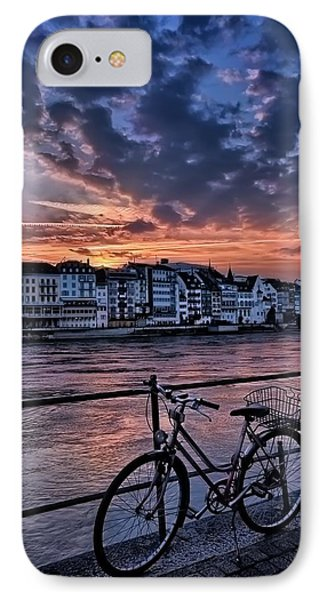A Sunset Cycle By The Rhine Basel IPhone Case