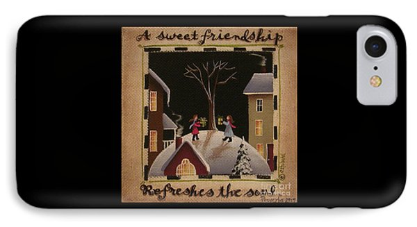 A Sweet Friendship  Winter Phone Case by Catherine Holman