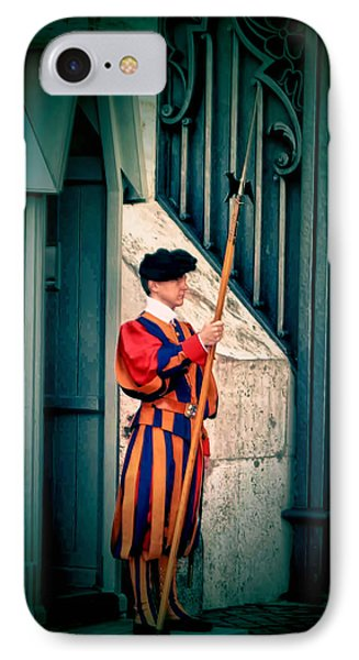 A Swiss Guard IPhone Case by Tom Prendergast