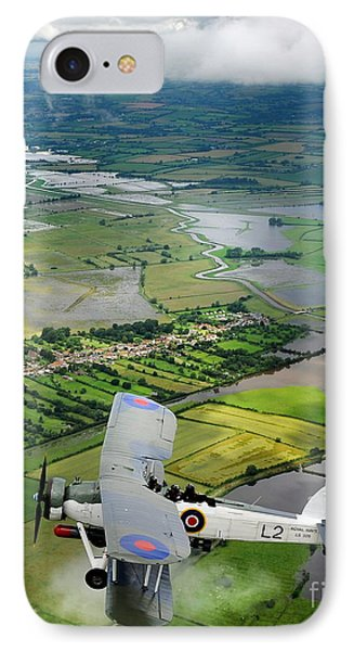 IPhone Case featuring the photograph A Swordfish Aircraft With The Royal Navy Historic Flight. by Paul Fearn
