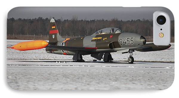A T-33 Shooting Star Trainer Jet Phone Case by Timm Ziegenthaler