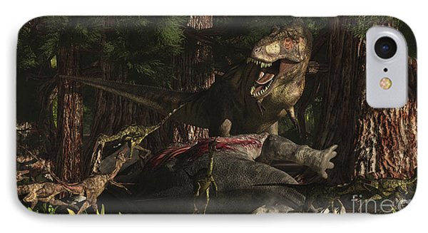 A T-rex Returns To His Kill And Finds IPhone Case by Arthur Dorety