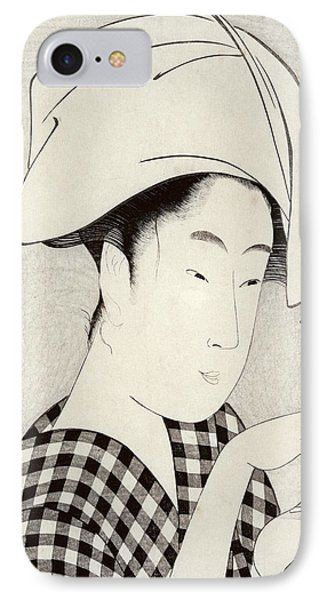 A Tea-house In Ryogoku, From The Series Bijin Juyo Ten Female Figures IPhone Case