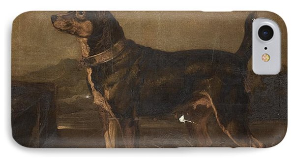 A Terrier In A Landscape IPhone Case by MotionAge Designs