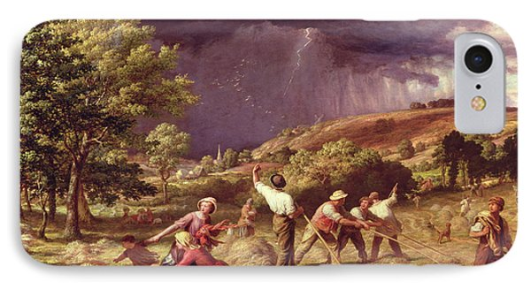 A Thunder Shower, 1859 Phone Case by James Thomas Linnell