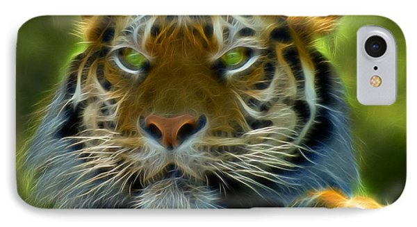 A Tiger's Stare II IPhone Case