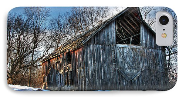 A Time Gone By....  Country Barn IPhone Case