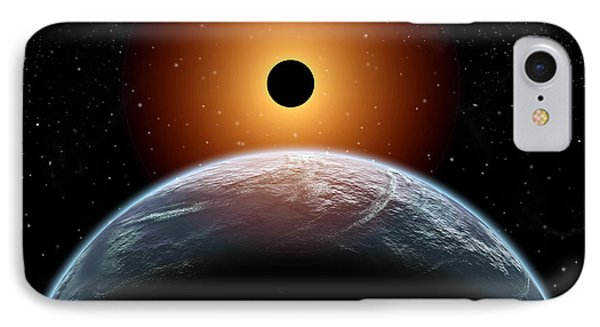 A Total Eclipse Of The Sun As Seen IPhone Case by Mark Stevenson