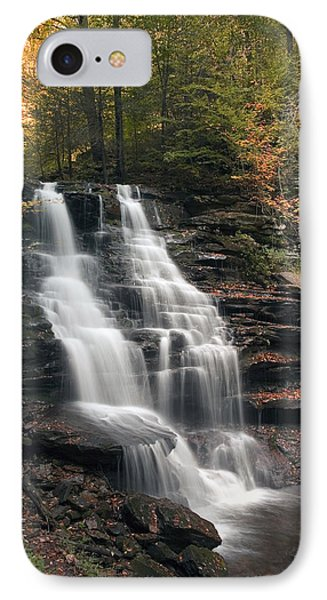 IPhone Case featuring the photograph A Touch Of Autumn At Erie Falls by Gene Walls