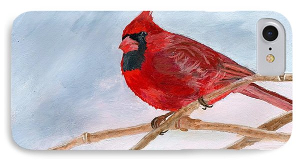 IPhone Case featuring the painting A Touch Of Red by Lynne Reichhart