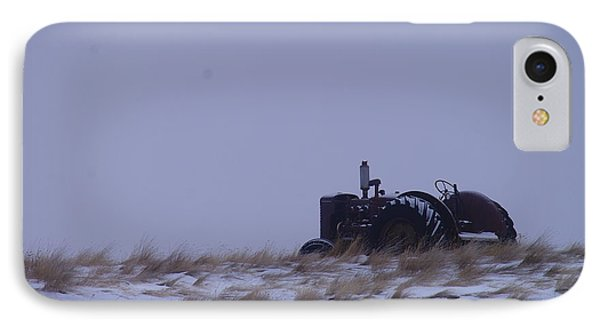 A Tractor Fading To The Snow  Phone Case by Jeff Swan