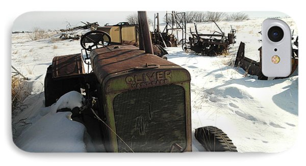A Tractor In The Snow Phone Case by Jeff Swan