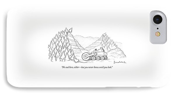 A Tractor Razes Thousands Of Trees IPhone Case