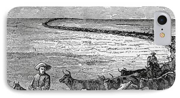 A Trail In The Great Plains, Illustration From Harpers Weekly, 1874, From The Pageant Of America IPhone Case by American School