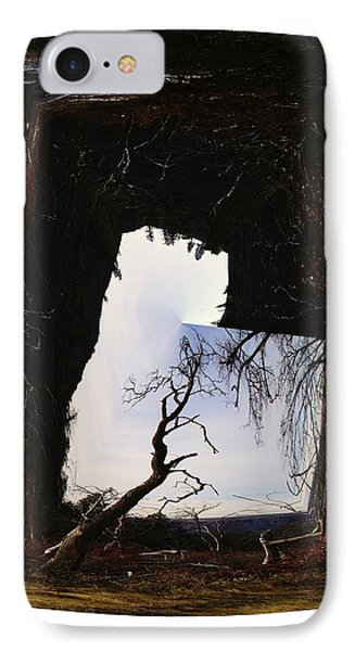 A Tree In A Square Abstract IPhone Case by Jeff Swan