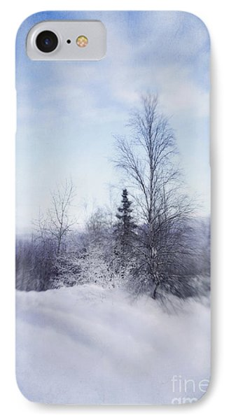 A Tree In The Cold Phone Case by Priska Wettstein