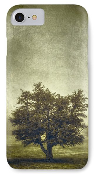 A Tree In The Fog 2 IPhone Case by Scott Norris