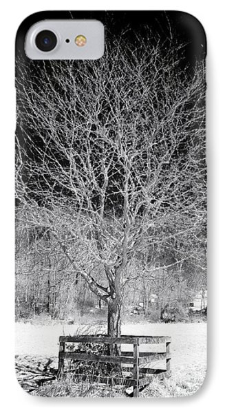 A Tree In The Snow Phone Case by John Rizzuto