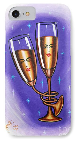 IPhone Case featuring the painting A Twist Of Romance... by Ragunath Venkatraman