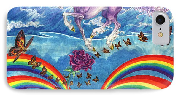 A Unicorn's Love Phone Case by Barry Munden