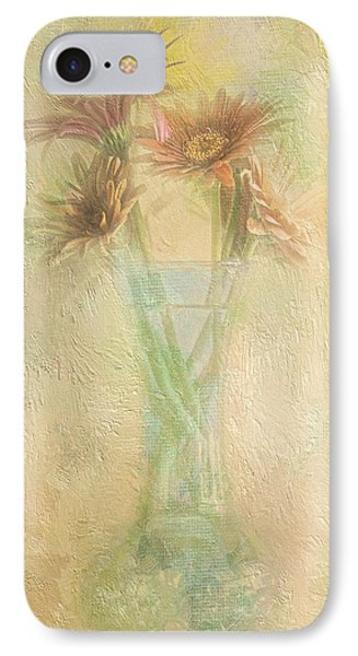 A Vase Of Gerbera Daisies In The Sun Phone Case by Diane Schuster